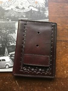 Tex Shoemaker Government Dea Fbi Atf Ins Brown Leather Wallet Id Badge Wallet