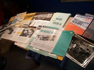 Vintage Miehle Letterpress Manuals And Sale Brochures Much More Large Lot