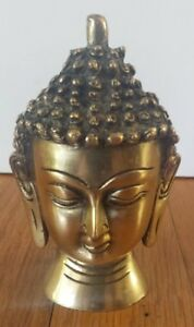 Collectible Handmade Carving Statue Copper Brass Buddha Head