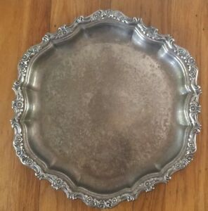Vintage Webster Wilcox International Oneida Silver Plated Serving Tray 14 5