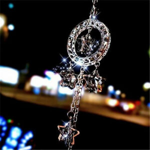 Auto Rear View Mirror Crystal Star Decoration Car Hanging Pendant Ornament D