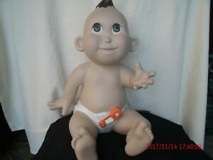 Full Body Polyurethane Sitting Baby Mannequin Brown Eyes Brown Hair