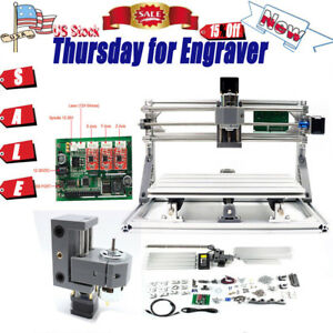 Mini Diy 3 Axis Cnc3018 Grbl Control Router Kit Desktop Engraver Milling Machine