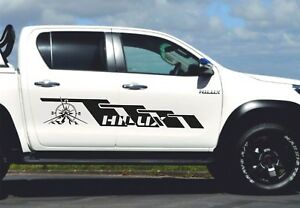 Toyota Hilux 2x Side Body Decal Vinyl Graphics Racing Sticker Hight Quality