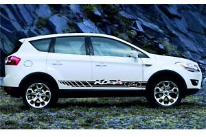 Ford Kuga 2x Racing Stripes Graphics Vinyl Body Decal Sticker Logo High Quality