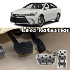 For 12 17 Toyota Camry Interior At Brake Gas Accelerator Foot Pedals Cover Pad