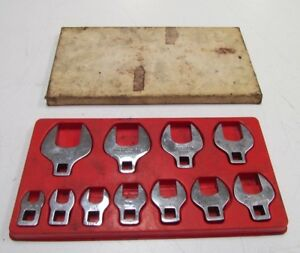 Snap On 11 Piece 3 8 Drive Crow Foot Wrench Set 3 8 1