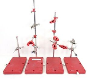 Lot Of Laboratory Lab Stands Clamps