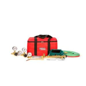 New lincoln Electric Cut Welder Kit torch oxygen And Acetylene Regulators Hose
