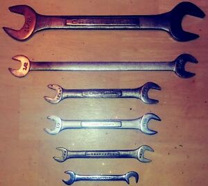 Craftsman Tools 6 Piece Lot Wrench Double Open End Set V v v Mixed Sae Metric