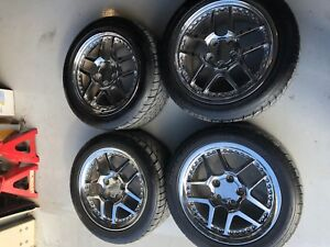 Set Of Four Corvette Z06 Style Wheels Chrome Rims