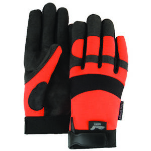 Majestic 2137ho Armorskin Synthetic Leather Palm Mechanic s Glove 12 Pairs