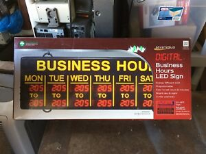 Mystiglo Digital Business Hours Led Sign