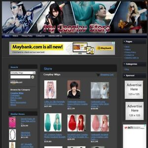 Cosplay Store Online Home Based Business Website For Sale Free Domain hosting