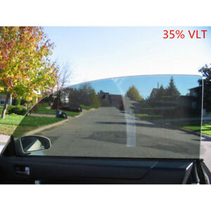 35 Vlt Light Black Car Home Glass Window Tint Film Vinyl Shade Roll 50cmx100cm