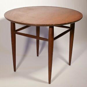 Mersman 1960 S Mid Century Modern Round Walnut Side Table 8088 28 Across
