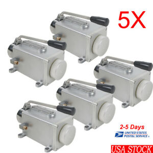 5x Manual Lubrication System Oil Pump Hand Operate Lubricator Punching Machine