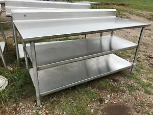 6 X 30 Commercial Heavy Duty Stainless Steel Prep Food Table 2 Bottom Shelves