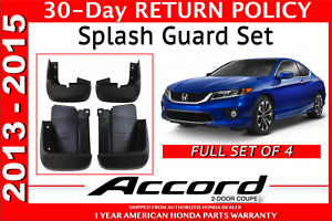 Genuine Oem Honda Accord 2dr Coupe Splash Guard Set 2013 2015 08p00 T3l 100