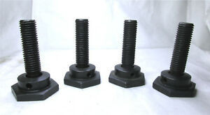 Set 4x Steel Machine Leveling Mounts Feet Pads 3 4 Thread 3 1 2 Height 2 Pad