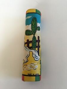 Made In Japan Kaleidoscope Vintage Mini Cowboy Toy Glass End 3 7 8 X 1