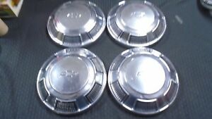1968 69 Chevy Dog Dish Hubcaps Wheelcovers Bel Air Biscayne Impala Camaro Copo