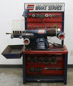 Used Ammco 4000 Disc And Drum Brake Lathe W Stand Loaded With Adapters
