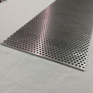 Perforated Metal Aluminum Sheet 125 1 8 Gauge 12 X 24 1 4 Hole 3 8 Stagger