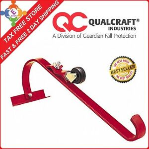 Qualcraft Roof Top Ladder Hook W Wheel One Hook Fit Single Or Extension Ladder