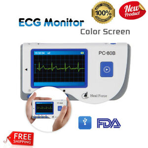 Portable Heal Force Color Ecg Ekg Heart Monitor ecg Lead Cable 50 Electrode Pads