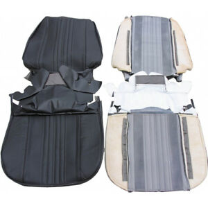 Pui Chevelle Seat Covers Bucket Leather Coupe Convertible Black 1970