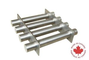 Industrial 8 Square Magnetic Hopper Grate With Rare Earth Magnets