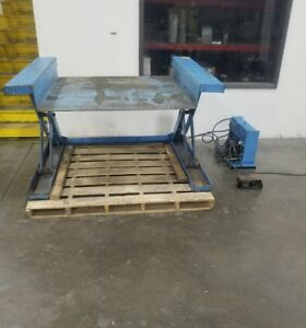 110v Hydraulic Lifting Table 1 4 32 Height 48 X 50 Platform 3822sr