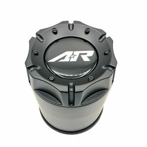 American Racing 4 25 Push Thru Cap Satin Black Stainless Steel For 5x5 5 6x5 5