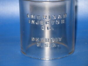 Old Vintage Hit Miss Gas Engine American Injector 3 X 3 Oiler Glass