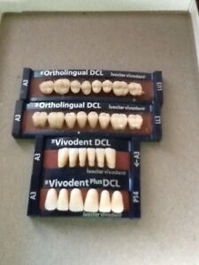 Ivoclar Vivadent Ortholingual Dcl 4 Cards Of A3 Teeth For Dental Lab Materials