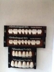 Ivoclar Vivadent Ortholingual Dcl 4 Cards Of B1 Teeth For Dental Lab Materials
