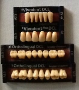 Ivoclar Vivadent Ortholingual Dcl 4 Cards Of A3 5 Teeth For Dental Lab Materials