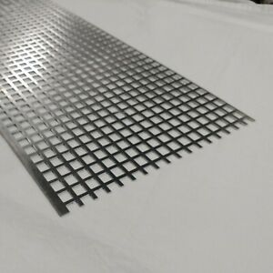 Perforated Metal Aluminum Sheet 063 16 Gauge 12 X 48 X 1 2 Square Hole