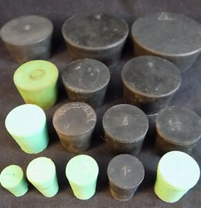 Rubber Laboratory Stoppers Solid Lab Bung Plug Stops Usa Free Shipping