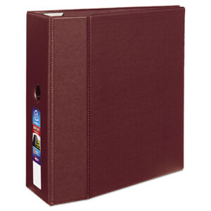 3 ring Ezd Binder 5 Capacity 8 1 2 x11 Maroon Ave79366