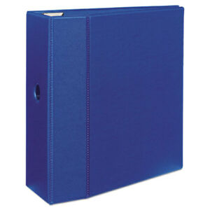 3 ring Ezd Binder 5 Capacity 8 1 2 x11 Blue Ave79886