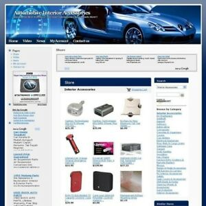Automotive Interior Web Store Business Website For Sale Free Domain And Hosting