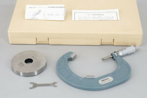 Mitutoyo Vm3 100 114 107 Groove Micrometer 85 100 Mm 0 01 Mm With Case