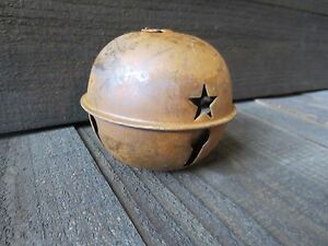 Large 5 5 Inch Rusty Jingle Bell Primitive Decor Rustic Country Winter Holiday