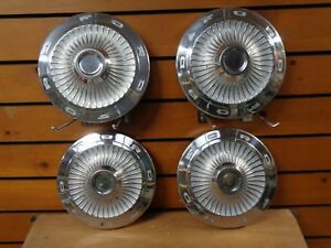 Ford Falcon Fairlane Police Fomoco Hubcaps Wheel Covers Center Caps Vintage
