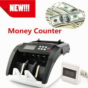 Lcd Bill Money Cash Counter Bank Machine Count Currency Uv Counterfeit Automatic