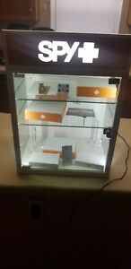 Spy Sunglasses Counter Display Case Lighted Case With Key Great Condition
