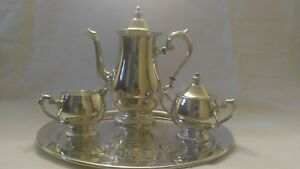 Coffee Tea Set Sterling Silver Plated Reed And Barton S2600
