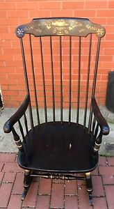 Ethan Allen Rocking Chair Rocker Stenciled Solid Maple Birch